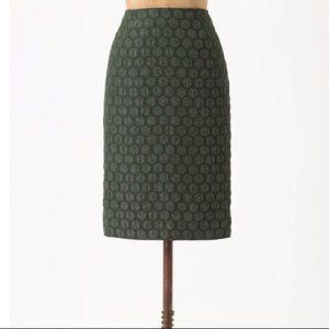 Maeve Anthropologie Polka Dot Pencil Skirt 6